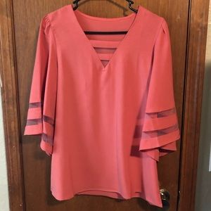 Peach 🍑 color blouse! Medium. Wore maybe twice.